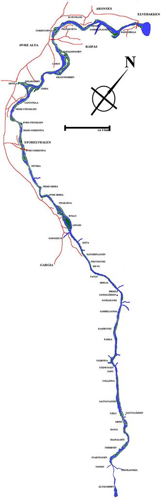 kart over altaelva Fakta om Altaelva   turgutta.no kart over altaelva